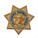 CHP Star, Sewn On front chest of shirt ALSO Includes direct embroidered name in gold (last name only)