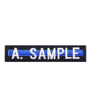 Thin Blue Line Name Tape with Velcro Back
