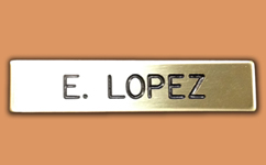 Personalized Metal Name Badge