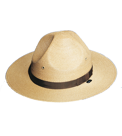 Campaign Style Hat, Straw, Tan