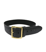CDCR Academy Uniform Belt, Black Basketweave with Brass Buckle - Chambers or Boston Leather depending on stock levels