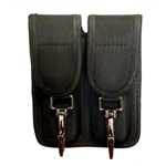 Nylon Double Mag Holder with Key Clip Front