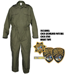 TRANSCON CDCR JUMPSUIT 1-PIECE Including PATCHES, NAME TAPE and STAR