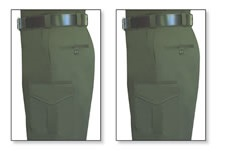 2 Pairs Tulare County Sheriff Pants - 65/35 Poly/Cotton Twill, O.D. Green, FECHHEIMER
