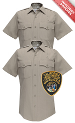 2 CDCR Shirts Short Sleeves, Silver Tan - Shoulder Patches included and sewn on.