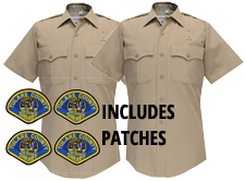 2 SS Shirts, Silvertan, Fechheimer Bros - Includes SHOULDER PATCHES & direct Embroidered first Initial & Last Name -Add below