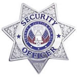 Traditional 7 Point Star Security Officer Badge