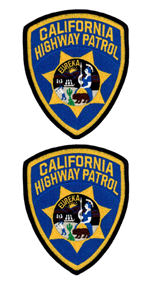 CHP Shoulder Patches/Emblems - 2 Pack - Supplied & Sewn On