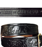 CA State Parks Leather Belt