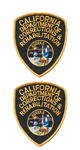 CDCR Shoulder Patches/Emblems - 2 Pack - Supplied & Sewn On