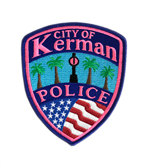 City of Kerman Police Pink Patch