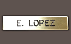 Sheriff Name Badge - Personalized, Metal