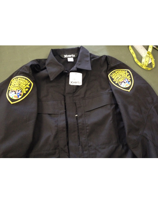 Transportation Shirt, Black - CDCR Badge Tab & Patches Included & Sewn On